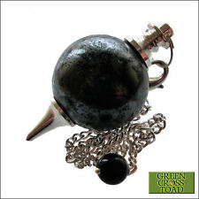 Hematite Ball Dowsing Pendulum Blood Ore Heightens Self Confidence & Will Power