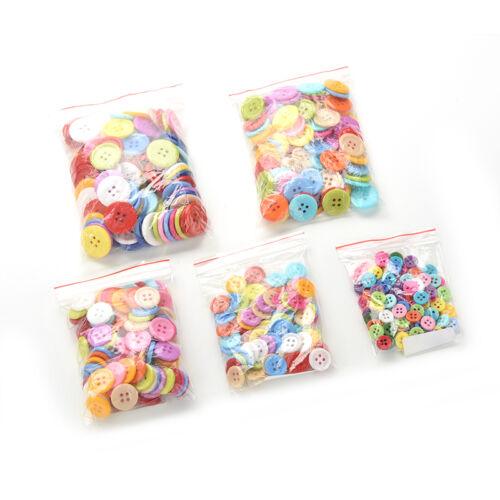 100 X Mix Buttons Craft Scrapbook Card Making DIY for Kids Crafts 5 Sizes  LD