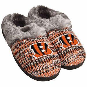 fbd3660e Details about Cincinnati Bengals Slippers Logo NEW Womens Slide House  shoes! Peak Slide
