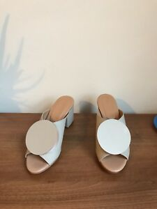 Mules 3 Cream tanleather Brand Uk Shoes Rrp The New Palatines sandals £445 w8Yt4