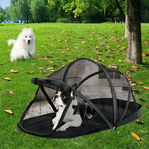 Image is loading New-Foldable-Pet-Enclosure-Dome-Tent-Dog-Cat- & New Foldable Pet Enclosure Dome Tent Dog Cat Camping Mesh Net ...