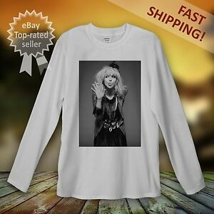 Courtney-Love-Manica-lunga-T-Shirt-uomini-donne-unisex-il-foro-ROCK-PUNK-NIRVANA