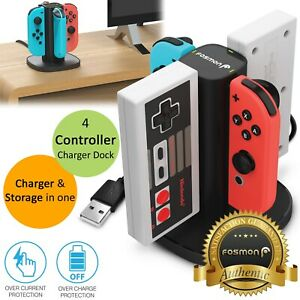 4-Port-Controller-Charger-Charging-Dock-Station-for-Nintendo-Switch-NES-Joy-Con