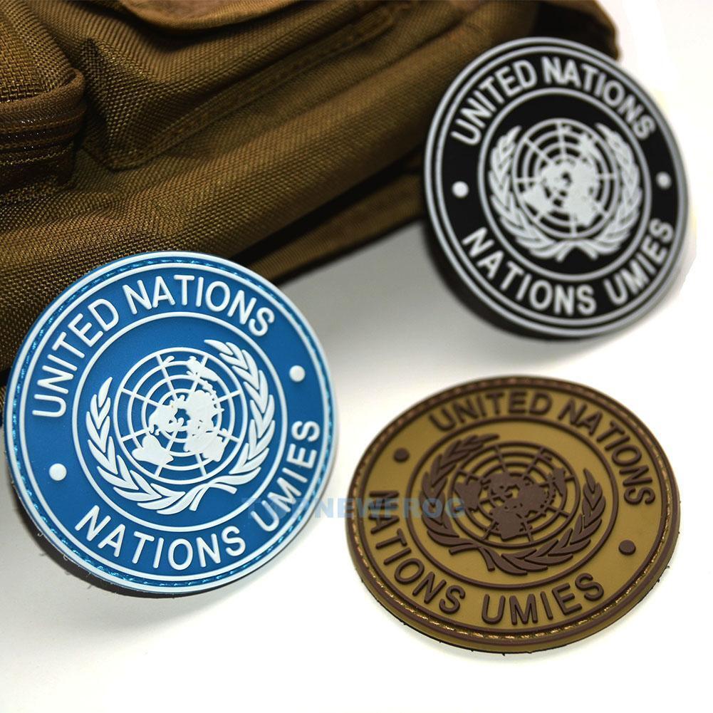 United Nations Blue UN Cufflinks Lapel Badge /& Tie Clip Military Gift Set