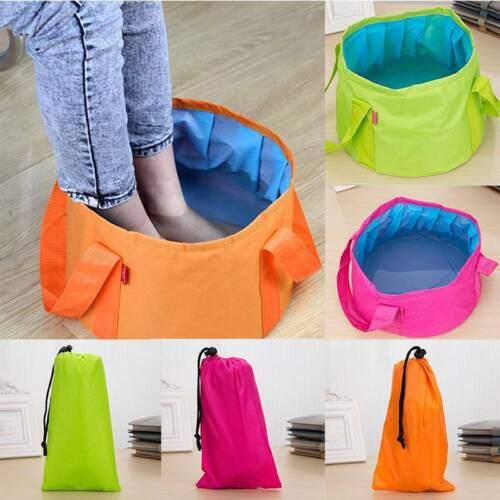 Portable Wash Basin Bag Folding Collapsible Outdoor Camping Water Sink Bucket QK