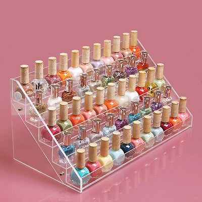 HIGH Acrylic Makeup Nail Polish Storage Organizer Rack Display Holder