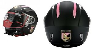 Casque-Demi-Jet-Double-Visiere-Bhr-709-Palermo-Football-TAILLE-S