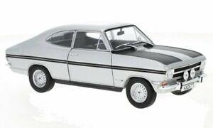 OPEL Kadett B Coupe - silver / black - WhiteBox 1:24