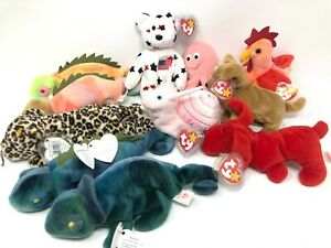 TY Beanie Babies Group - MIX LOT OF Beanies - Retired