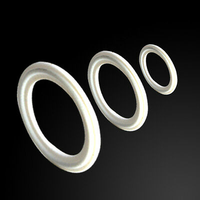 "1.5""-4"" PTFE Gasket Fits 50.5mm-115mm OD Sanitary Tri Clamp Type Ferrule Flange"
