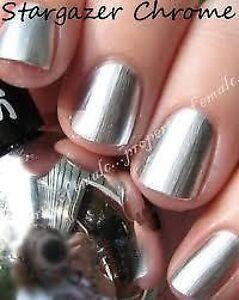 Image Is Loading Stargazer Chrome Metallic Nail Polish Silver 232 Gold