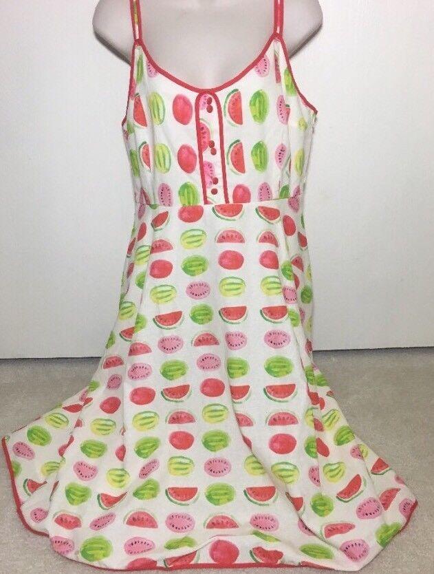 Modcloth Novelty Fruit Summer Watermelon Dress Sz L