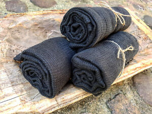 Linen Bath Towel Black Washed Linen Waffle Towel Linen Bath Big