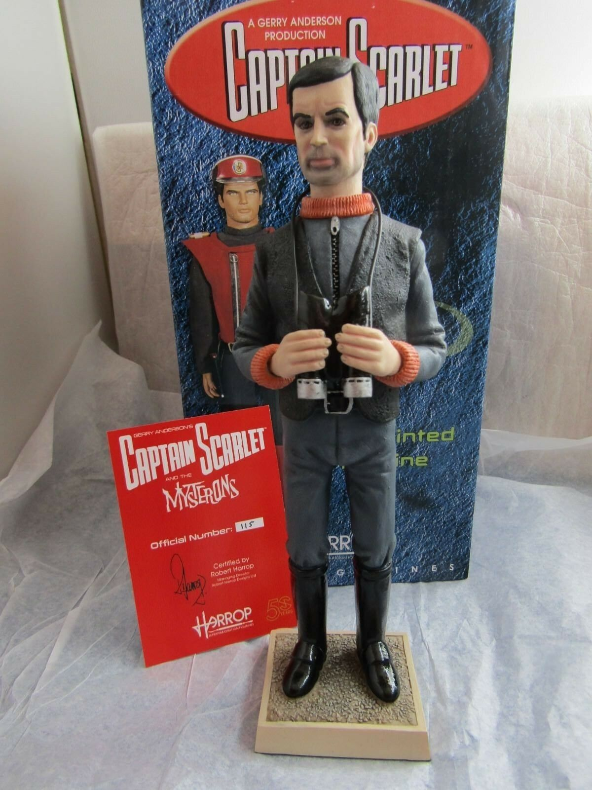 CAPTAIN schwarz FROM CAPT. SCARLET AND THE MYSTERONS  CSF08 RENEGADE ROCKET Harrop