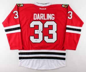 Image is loading Scott-Darling-Signed-Blackhawks-Jersey-Beckett-Chicago -Stanley- 924ec90b7