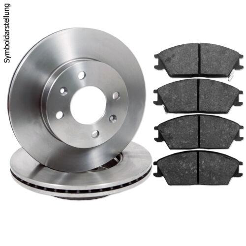 4 Bremsscheiben Bremsbeläge vorne hinten Set für Mercedes-Benz C-Klasse W202