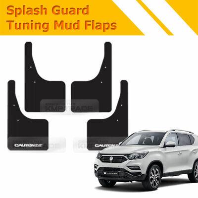 JUZZQ Mud Flaps Splash Guards Fender Mudguards 4pcs ,For SsangYong Korando Actyon C200 2011-2015 Premium Front /& Rear Set Moulded Full Protection Set Splash Mud Guards Black