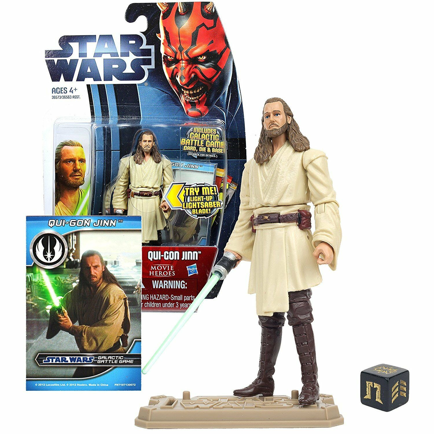StarWars collection : Figurine Star Wars hasbro movie heroes MH18 Qui-Gon Jinn
