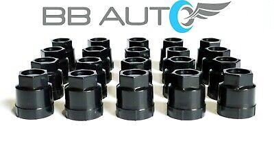 BB Auto Set of 20 New Black screw on wheel lug nut covers for 1982-1992 Camaro z28 IROC Firebird Trans Am Formula GTA
