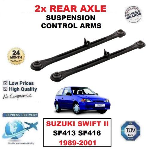 2x Essieu Arrière Gauche Droit Control Arms pour SUZUKI SWIFT II SF413 SF416 1989-2001