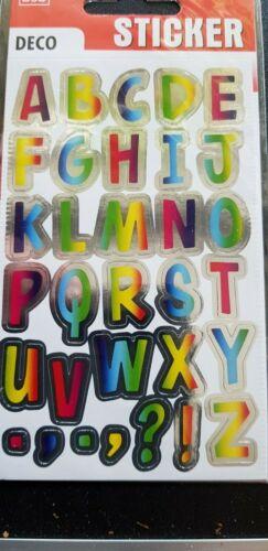 Metallig Effect Buchstaben  Etiketten Aufkleber
