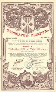 RARO-Emprestito-Municipal-de-Vich-obligacion-Vich-1904-Emision-625