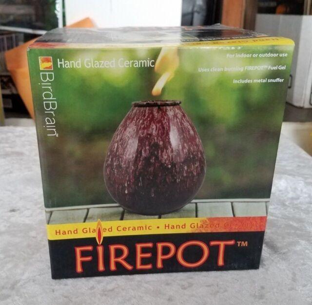 Firepot Hand Glazed Ceramic Purple Large By Bird Brain New