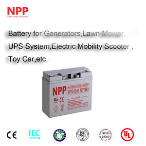 NPP 12V 18Ah Rechargeable Lead Acid Battery  Generac 7500 EXL Portable Generator