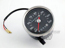 Smiths Repro miles Tacho speedometer black face BSA Triumph red pointer