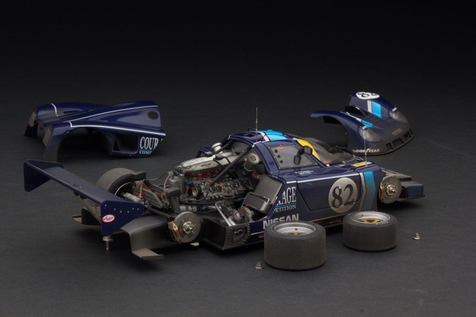 Exoto 1 18 1990 Courage Nissan R89c Rennfahren Verwittert Le Mans