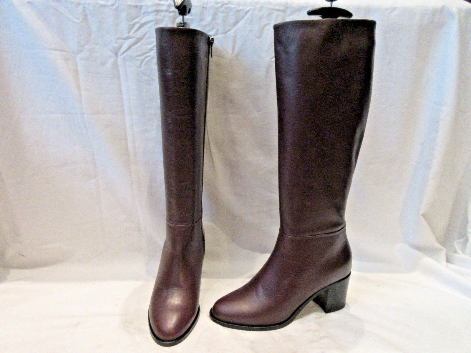 BN HOBBS LONDON BURGUNDY BROWN LEATHER ZIP UP BOOTS US 5 (1493)
