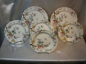BOOTH-039-S-CHINESE-TREE-4-SOUP-BOWLS-AND-1-DINNER-PLATE