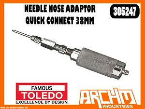 TOLEDO-305247-NEEDLE-NOSE-ADAPTOR-QUICK-CONNECT-38MM-GREASE-GUN-DISPENSE