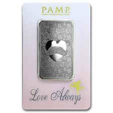 1 oz Silver Bar - PAMP Suisse Love Always - SKU #92823