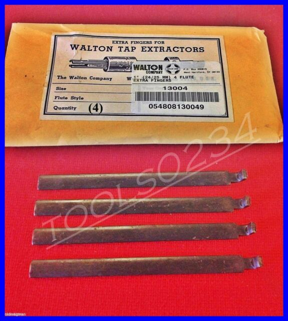 """New Walton 13004 Tap Extractor 4 Replacement Fingers 1/""""  4 Flute USA MADE"""