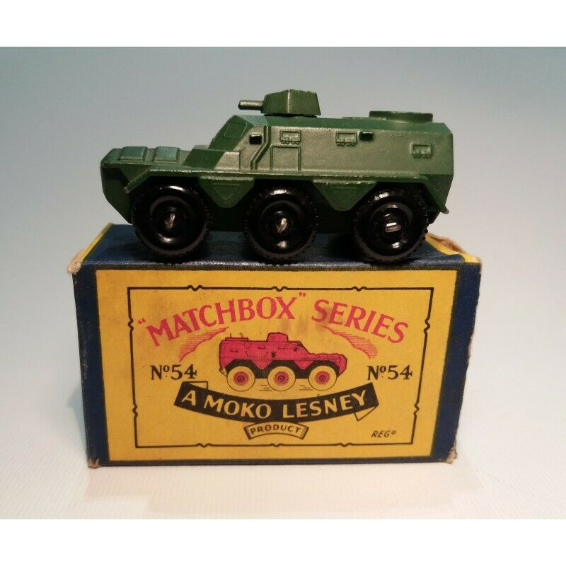 MATCHBOX N.54a   SARACEN PERSONNEL CARRIER (ORIGINAL BOX 1957) SCALA 1 75
