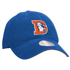 """Denver Broncos Mitchell & Ness NFL """"throwback Felt Logo"""" Slouch Adjustable Hat"""
