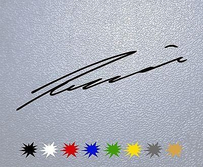 STICKER PEGATINA DECAL VINYL Niki Lauda Signature