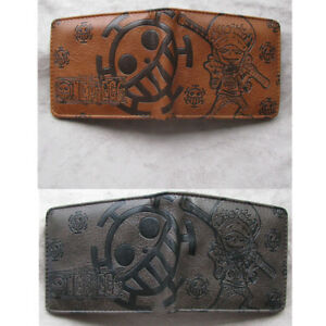 Anime-ONE-PIECE-Law-money-clip-Bifold-Men-Wallet-Credit-Card-Holder-Coin-Purse