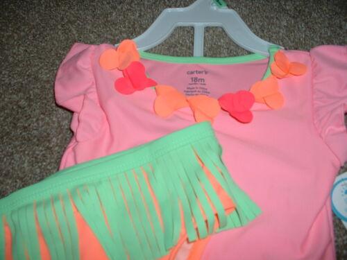 Carter/'s Baby Girl Hula Girl Swim Set Swimsuit Size 12M 18M 12 18 Months NWT