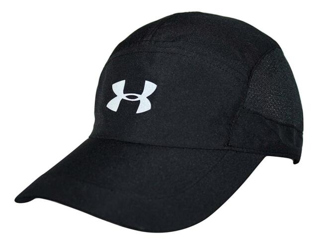 06dd1d0a6 Womens Under Armour Heat Gear Black Gray Lightweight Adjustable Running Hat  Cap