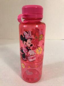 Disney Minnie Mouse Pink Bpa Free 16oz Juice Water Bottle