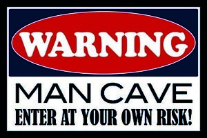 Warning-Man-Cave-Own-Risk-Tin-Sign-Shield-Arched-Tin-Sign-20-x-30-cm-CC0953