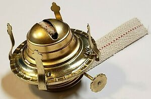 2-BRASS-PLATED-OIL-BURNER-WITH-WICK-amp-REMOVABLE-SCREW-ON-COLLAR-NEW-54350J