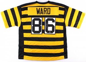 46da3e833ab Hines Ward Signed Steelers Jersey (JSA) Super Bowl XL MVP Bumble Bee ...