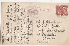 Mr D H Weber c/o Rev J Carlton Hope Under Dinmore Leominster 1920 344a