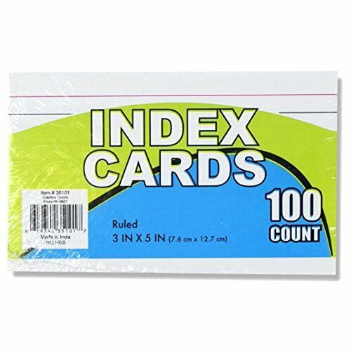 Bulk School Supplies Wholesale Box of 96 Packs of 100 Index Cards 9,600 Total