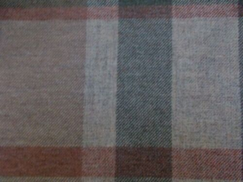 "350 cm Zoffany CURTAIN FABRIC /""Garrick/' 3.5 mètres Sage//ROUILLE 100/% shetland laine"