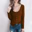 Women-Long-Sleeve-Scoop-Neck-Button-Tops-Casual-Slim-Basic-T-Shirt-Jumper-Blouse thumbnail 4