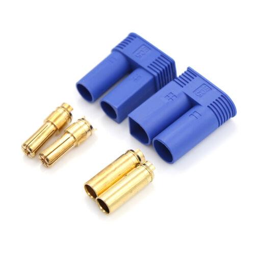 1 Set Male Female RC EC5 Banana  Connector 5.0mm Gold Bullet Plug TPI